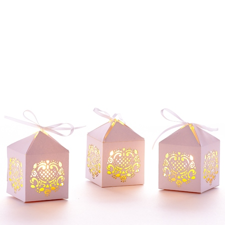 3 mini lanternes - sans bougies LED