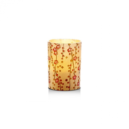 Small LED candle holder Small flowers - H6.7CM