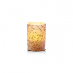 LED candle holder Small Gold Flowers - H 6,7 cm