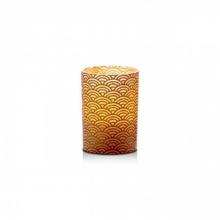 Small LED candle holder Small golden waves - H6.7CM
