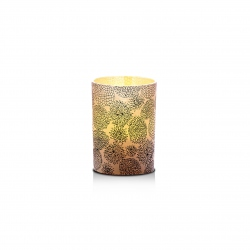 Small LED candle holder Chrysantemum - H 6.7 cm