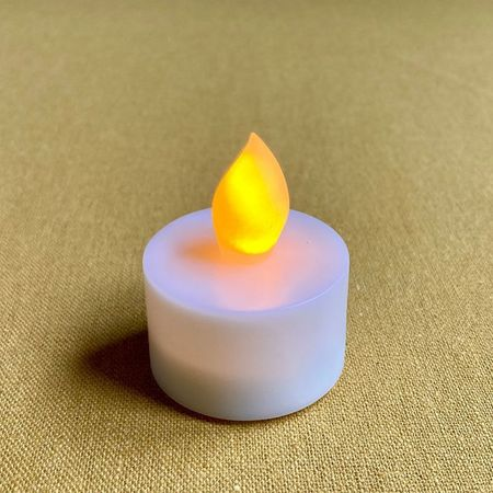 LED amber yellow tealight candle - Ø3.8CM