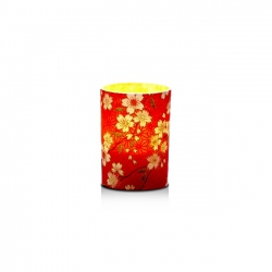 Small LED candle holder Cherry blossom - H6.7CM