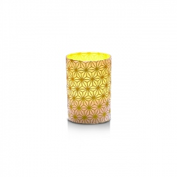 Small LED candle holder Gold crystals - H6.7CM
