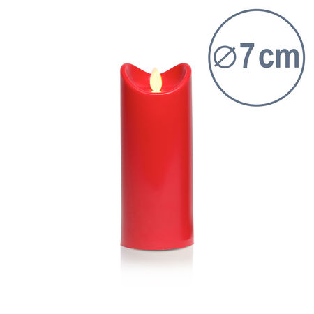 Bougie LED rouge - H17.5CM