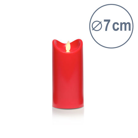 Bougie LED rouge - H15CM