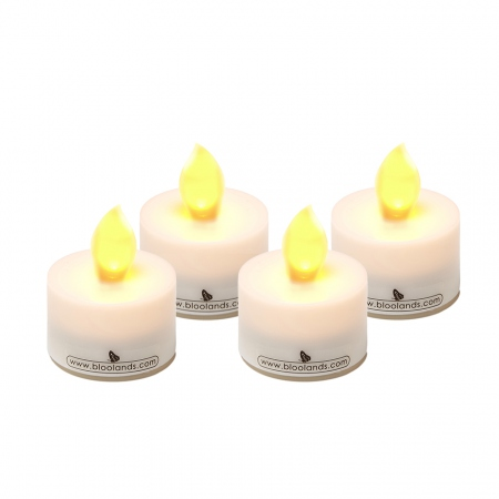 4 petites bougies flamme jaune chauffe plat led. Black Bedroom Furniture Sets. Home Design Ideas