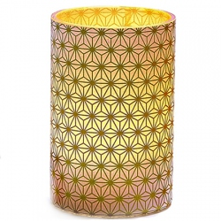 LED Gold Crystals Candle Holder - H11.5cm