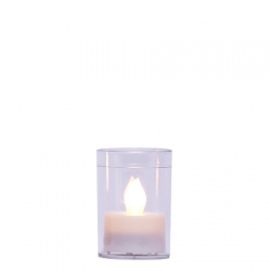LED candle holder for DIY - H 6,7 cm