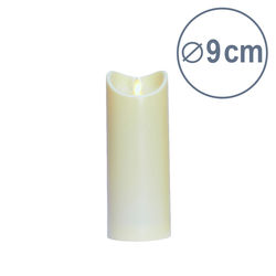 LED candle with moving flame -Ivory- H22.5CM - Ø9cm