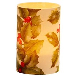 Large LED Candle Holder Holly - H11.5cm