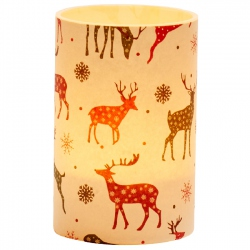 Large LED Candle Holder Deer - H11.5cm