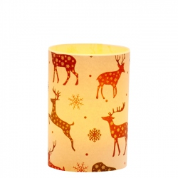 LED Candle Holder Deer - H9cm