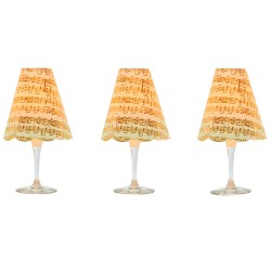 3 golden paper lampshades