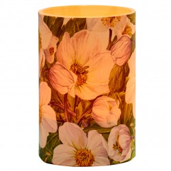 Large LED Candle Holder Hellebore - H11.5cm