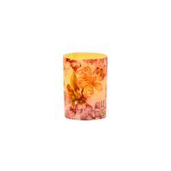 LED candle holder Peach Blossom - H 6,7 cm