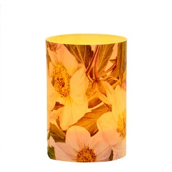 LED Candle Holder Hellebore - H9cm