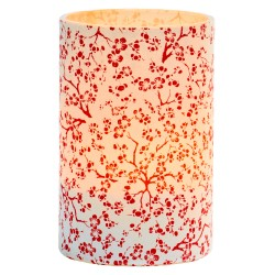Large LED candle holder Red Cherry - H11.5CM