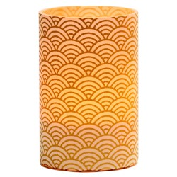 LED Gold Waves Candle Holder - H11.5cm