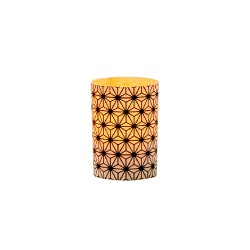 LED candle holder Black Crystals - H 6.7 cm