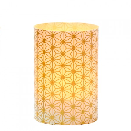 LED candle holder Golden crystals - H9CM