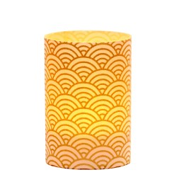 LED candle holder Large Gold Wave - H 9 cm
