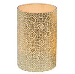 Large LED candle holder Large Gold Flowers - H11.5CM