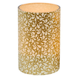 Large LED candle holder Small Gold Leaves - H11.5CM