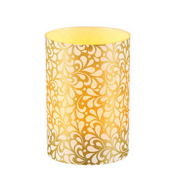 LED candle holder Small Gold Leaves - H 9 cm