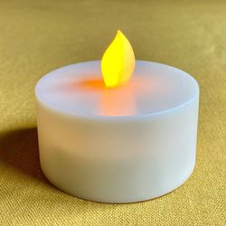 Amber yellow LED tealight - Ø6.5CM