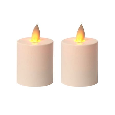2 Small LED tea light with moving flame
