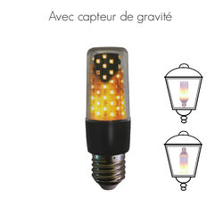 Small Flame Effect bulb - black socket
