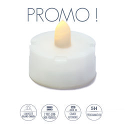 Warm white LED tealight - Ø6.5CM