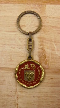 Porte clef armes abbaye St Wandrille St Christophe