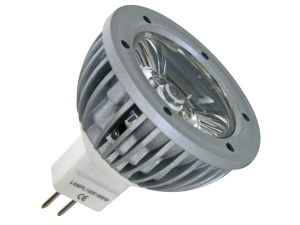 LAMPE LED 3W - BLANC FROID (6400K) 12VCA/CC - MR16