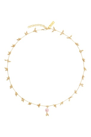 Collier GISELE quartz rose