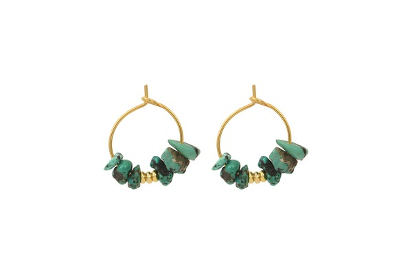 Boucles d'oreilles HEDWIGE turquoise