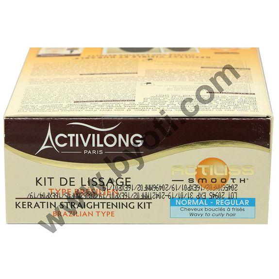 ACTILISS KIT de Lissage TYPE BRESILIEN SMOOTH Normal à base keratine - Argan bio sans paraben ACTIVILONG