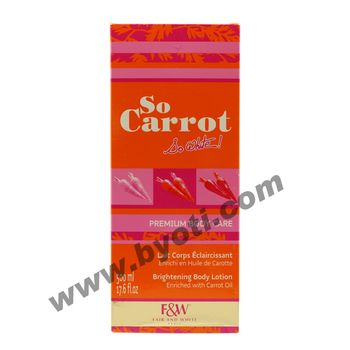 So Carrot  - Lait éclaircissant PREMIUM BODY CARE  de Fair & White - 500ml