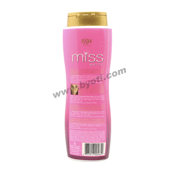 Lait corporel Beauty Active Miss White - Fair&White 500ml