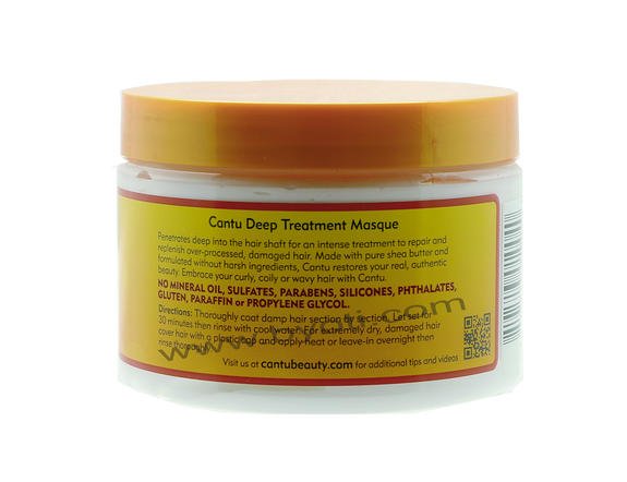 Masque capillaire Deep Treatment à base beurre de karité - Natural Hair 340g -  CANTU