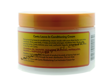 Crème Réparatrice Leave-In Conditioning Cream à base beurre de karité - Natural Hair 340 g -  CANTU