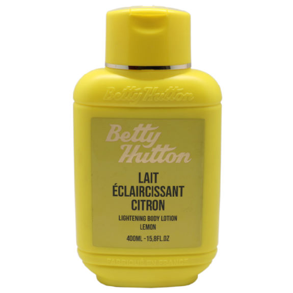 Lait Eclaircissant Hydratant, Nourrissant & Réparateur au citron Betty Hutton
