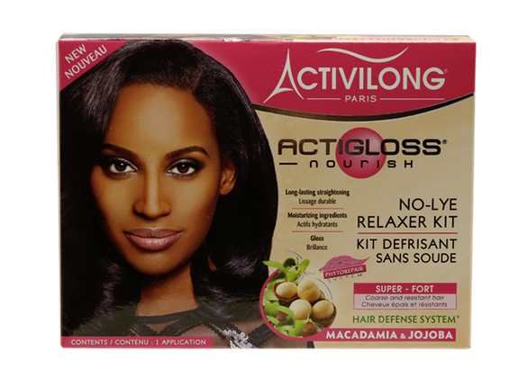 ACTIGLOSS KIT défrisant fort-super à base jojoba - macadamia sans soude ACTIVILONG