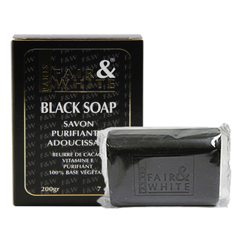 Black Soap Anti-bactérien Original - Fair & White 200grs