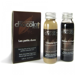 Duo Gel-Douche et Lait corporel - SENSATION chocolat 2x30ml
