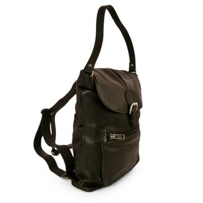 BLACK COPENHAGUE 9 LEATHER BACKPACK
