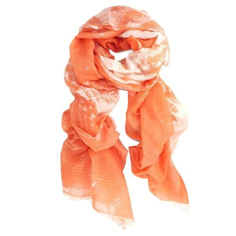 ORANGE SILK & COTTON  SCARF