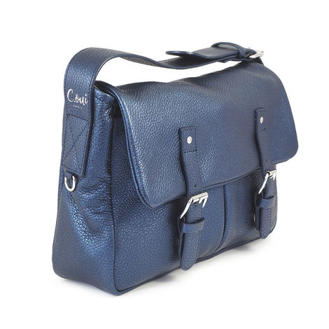Glitter blue grained  post-bag