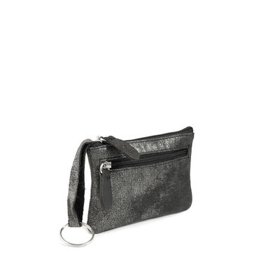GRAPHITE COIN LEATHER PURSE